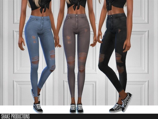 6 jeans set by ShakeProductions at TSR image 5416 670x503 Sims 4 Updates
