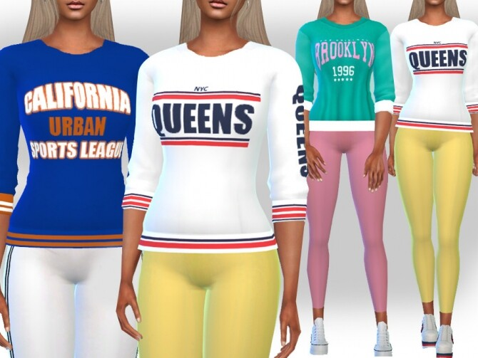 Female Half Sleeve SweatShirts by Saliwa at TSR image 542 670x503 Sims 4 Updates