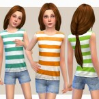 Striped Top Shorts by lillka