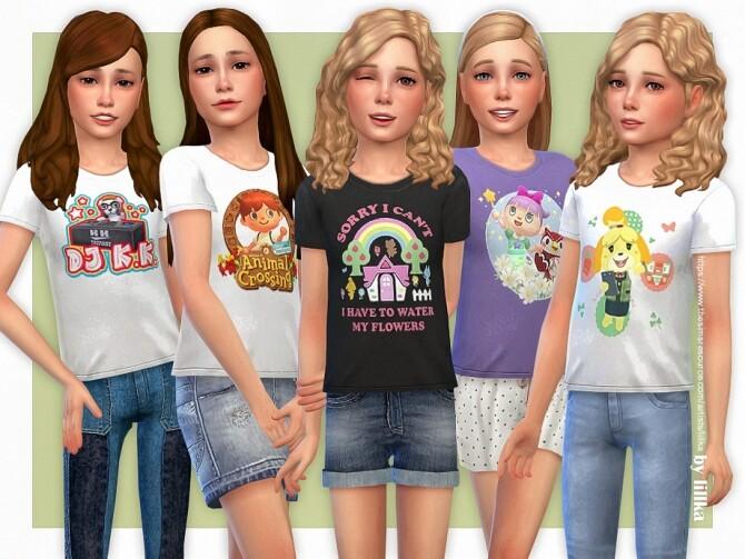 Sims 4 Animal Crossing T Shirt by lillka at TSR