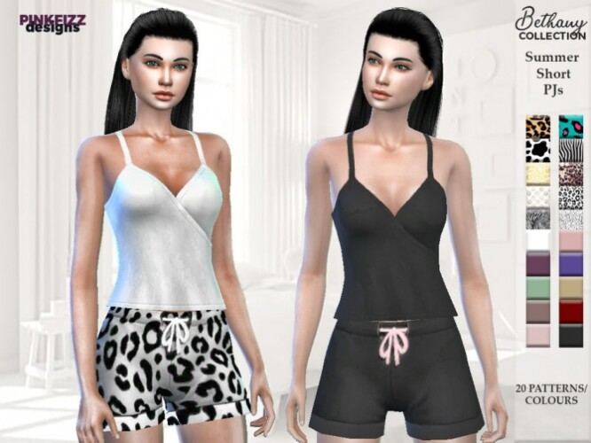 Bethany Summer Short PJs PF126 by Pinkfizzzzz