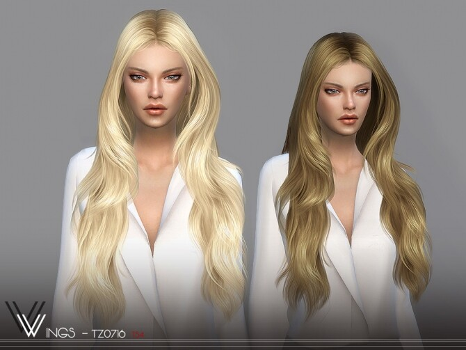 Sims 4 WINGS TZ0716 female hair by wingssims at TSR