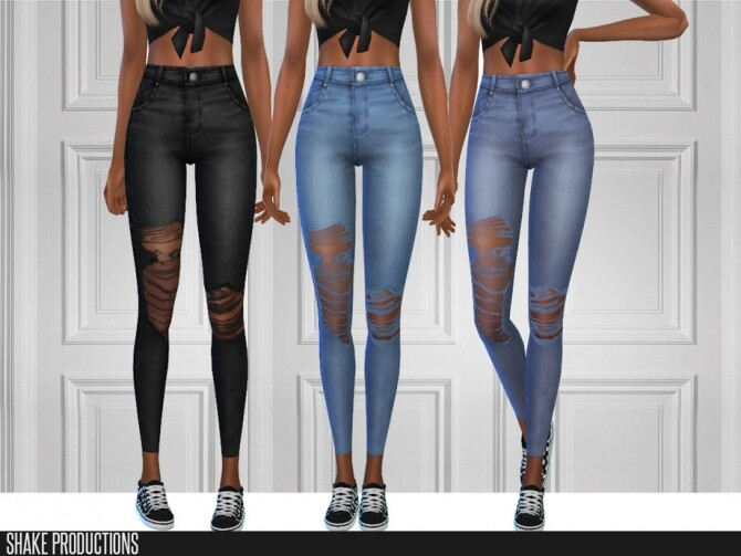 6 jeans set by ShakeProductions at TSR image 5516 670x503 Sims 4 Updates