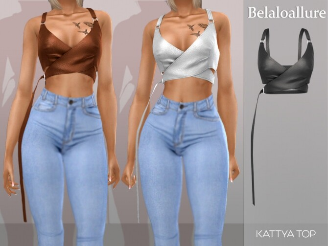 Sims 4 Kattya top by belal1997 at TSR