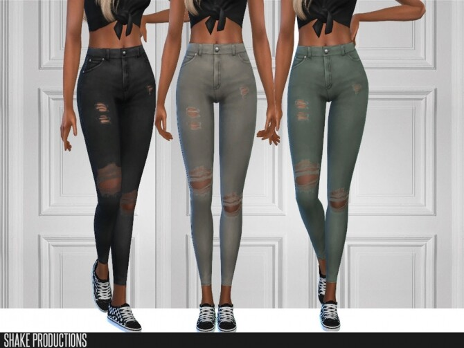 6 jeans set by ShakeProductions at TSR image 5616 670x503 Sims 4 Updates
