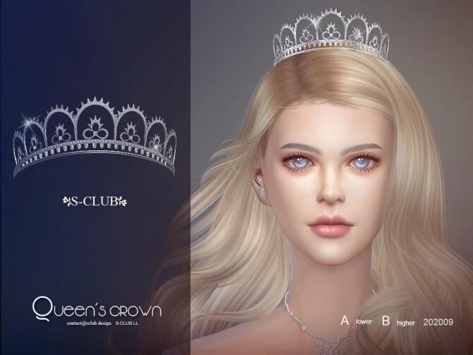 Sims 4 Queen tiara by S Club LL at TSR