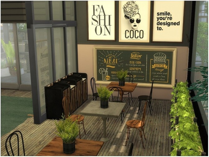 Wooden Cafe by lotsbymanal at TSR image 570 670x503 Sims 4 Updates