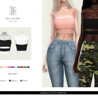 Bandeau Cut Out Crop Top by Bill Sims