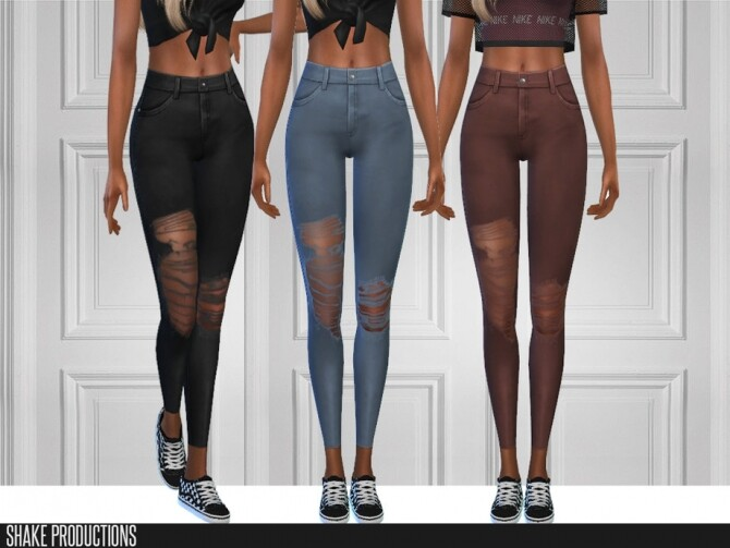 6 jeans set by ShakeProductions at TSR image 5716 670x503 Sims 4 Updates