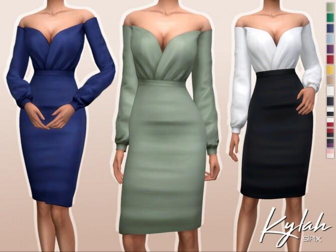 Sims 4 Kylah Dress by Sifix at TSR