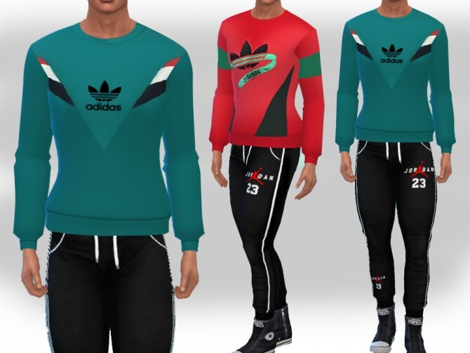 Colorful SweatShirts For Men by Saliwa at TSR image 581 670x503 Sims 4 Updates