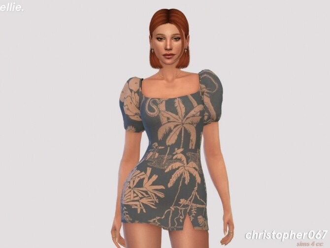 Sims 4 Ellie Dress by Christopher067 at TSR