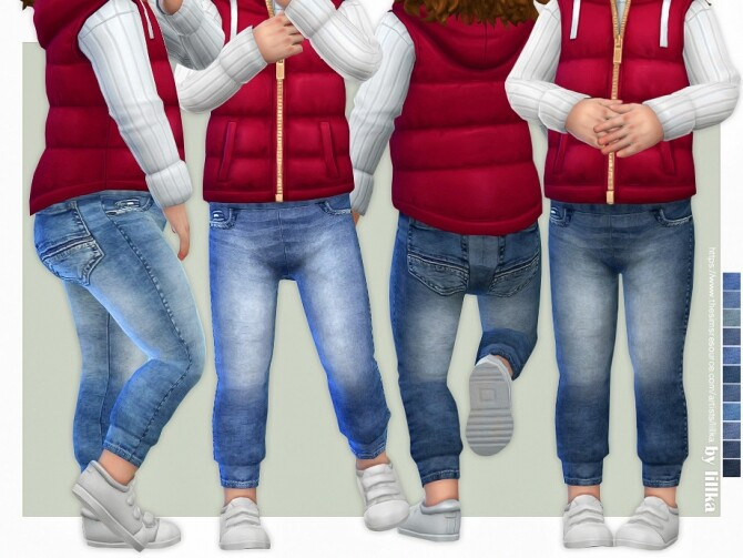 Sims 4 Toddler Jeans P09 by lillka at TSR