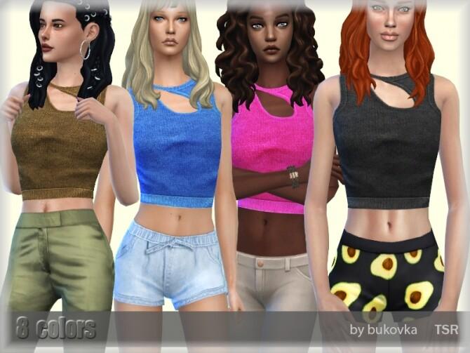 Sims 4 T Shirt Female by bukovka at TSR