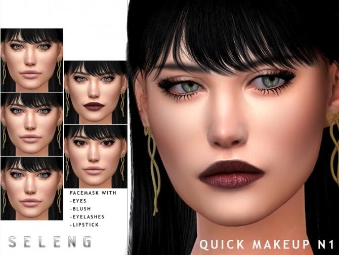 Sims 4 Quick Makeup N1 by Seleng at TSR