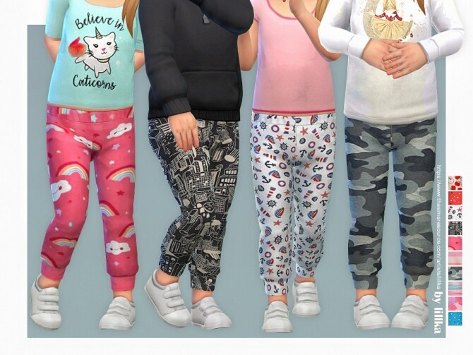 Sims 4 Sweatpants for Toddler 04 by lillka at TSR