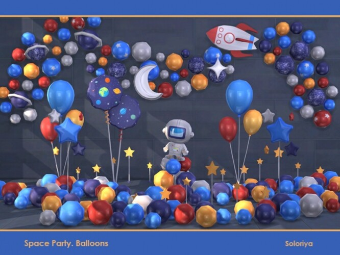 Space Party Balloons by soloriya