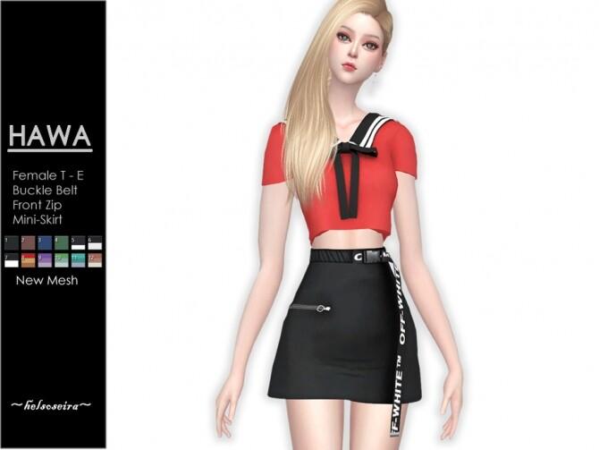 Sims 4 HAWA Mini Skirt by Helsoseira at TSR