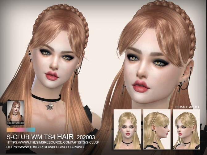 Hair 202003 by S Club WM at TSR image 596 670x503 Sims 4 Updates