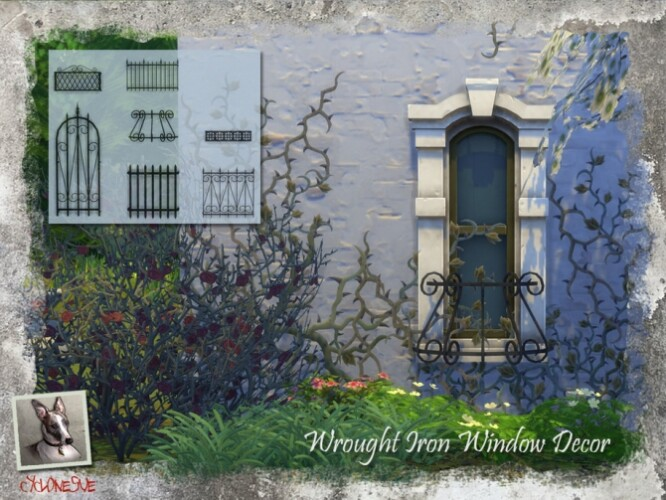 Wrought Iron Window Decor by Cyclonesue