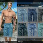 DSF BLUE JEANS SHORTS by DanSimsFantasy