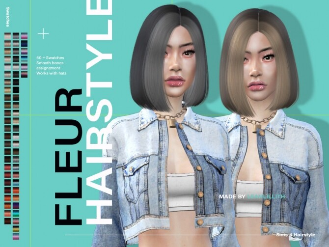 Fleur Hairstyle by Leah Lillith at TSR image 6014 670x503 Sims 4 Updates