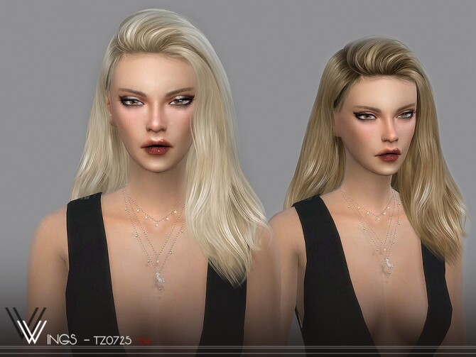 Sims 4 WINGS TZ0725 hair by wingssims at TSR