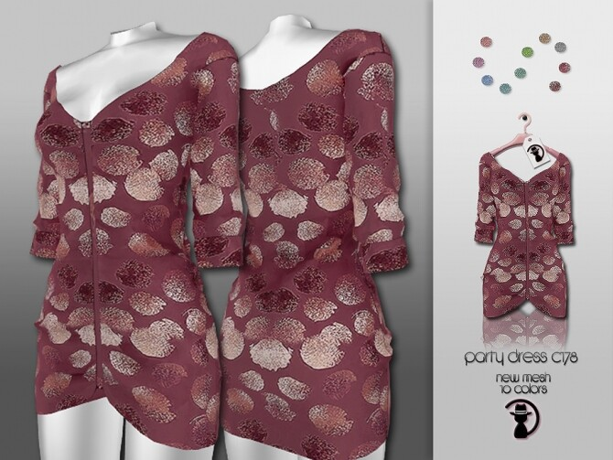 Sims 4 Party Dress C178 by turksimmer at TSR