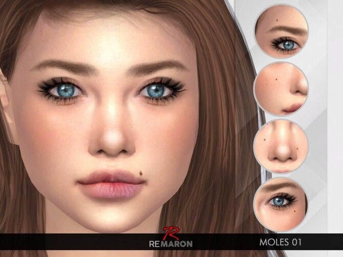 Moles 01 for both genders by remaron at TSR image 61101 670x503 Sims 4 Updates
