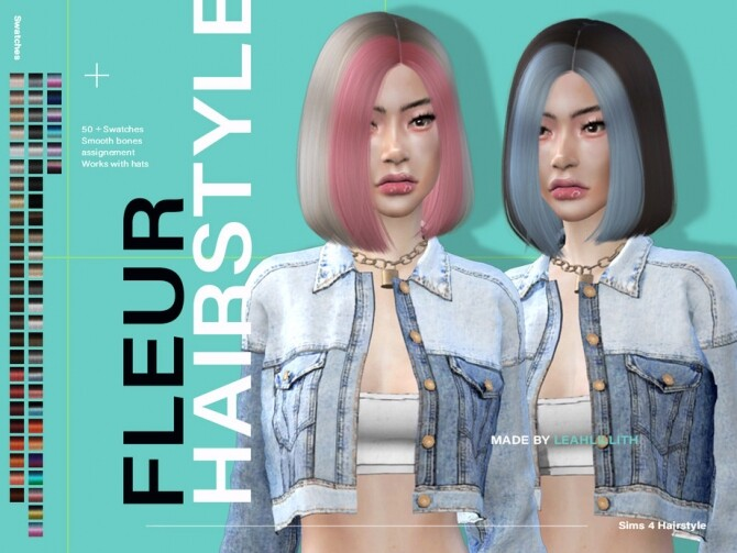 Fleur Hairstyle by Leah Lillith at TSR image 6118 670x503 Sims 4 Updates