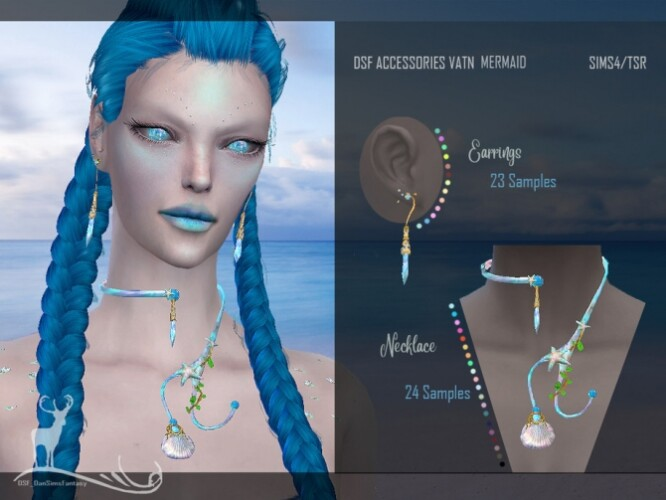 Earrings necklace for mermaids by DanSimsFantasy