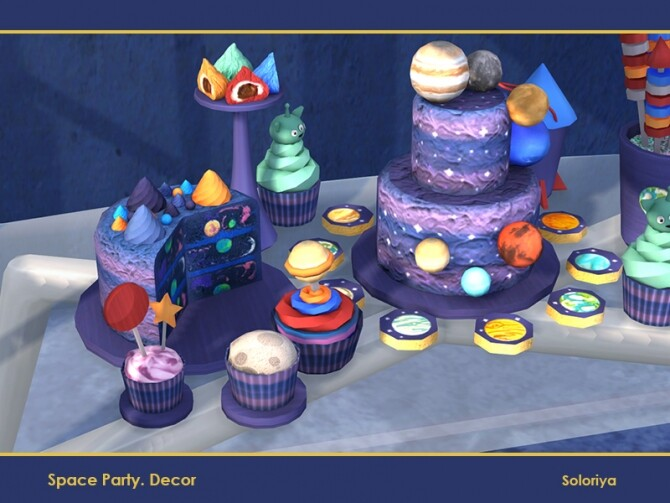 Sims 4 Space Party Decor by soloriya at TSR