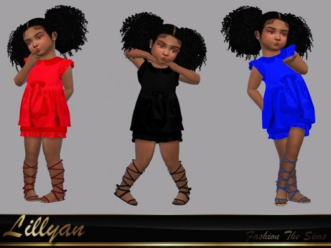 Sims 4 Dress Dany by LYLLYAN at TSR