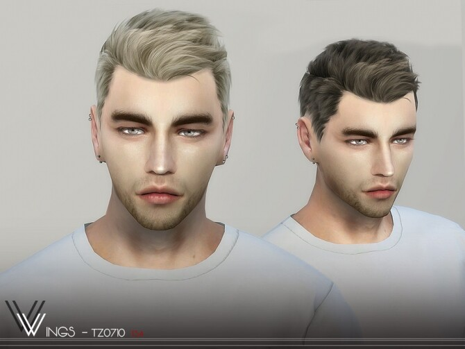 Sims 4 WINGS TZ0710 hair by wingssims at TSR