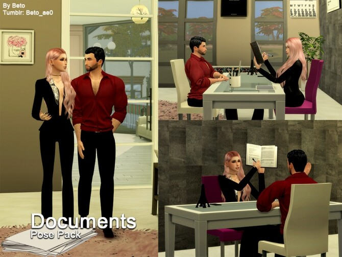 Documents Pose pack by Beto ae0 at TSR image 620 670x503 Sims 4 Updates
