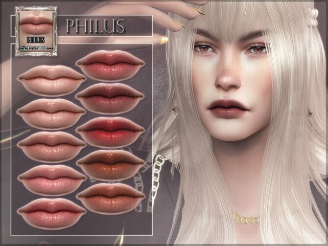 Sims 4 Philus Lipstick by RemusSirion at TSR