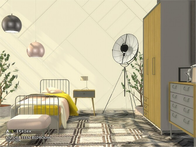Sims 4 Oltorf Teen Bedroom by ArtVitalex at TSR