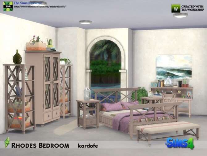 Sims 4 Rhodes Bedroom by kardofe at TSR