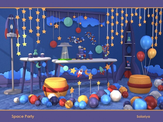 Space Party by soloriya at TSR image 641 670x503 Sims 4 Updates