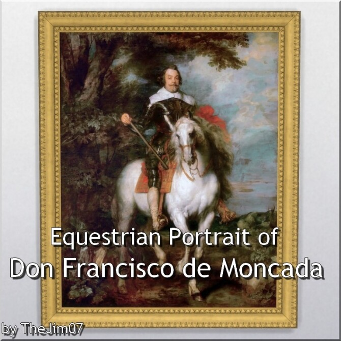 Equestrian Portrait of Don Francisco de Moncada by TheJim07 at Mod The Sims image 651 670x670 Sims 4 Updates