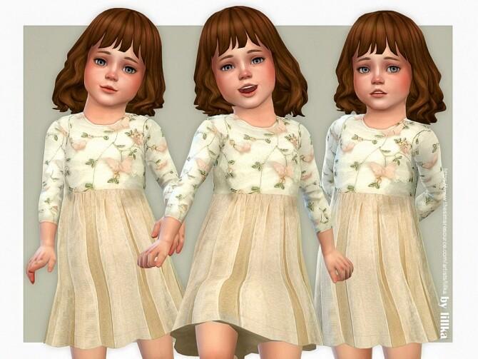 Sims 4 Sally Dress by lillka at TSR
