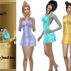 Gold rose formal dress by TrudieOpp