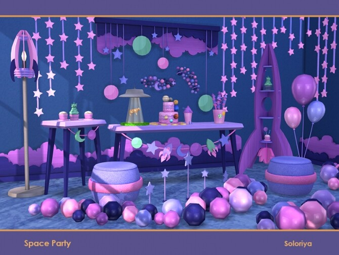 Space Party by soloriya at TSR image 671 670x503 Sims 4 Updates