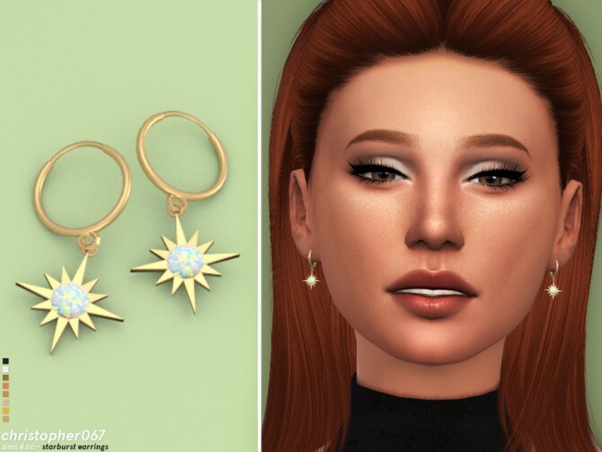 Starburst Earrings by Christopher067 at TSR image 6710 670x503 Sims 4 Updates