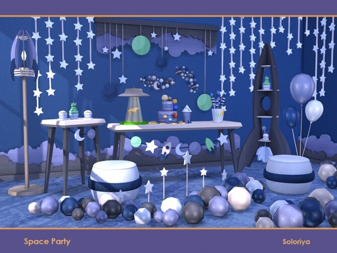Space Party by soloriya at TSR image 681 670x503 Sims 4 Updates
