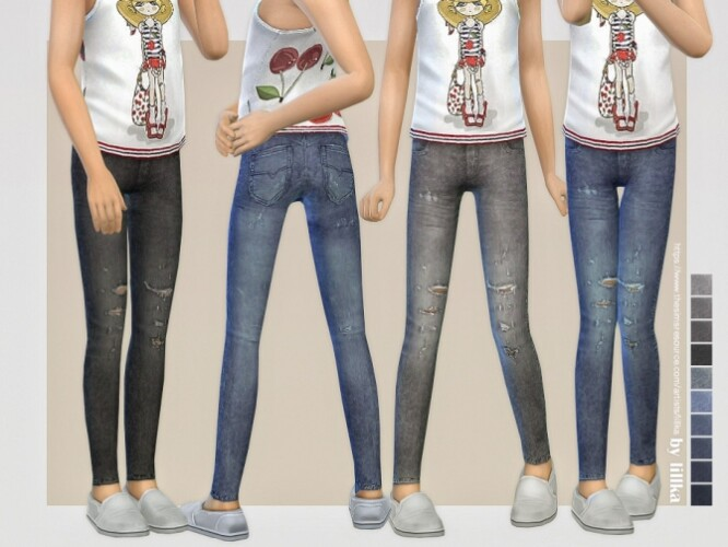 Skinny Jeans for Girls 08 by lillka
