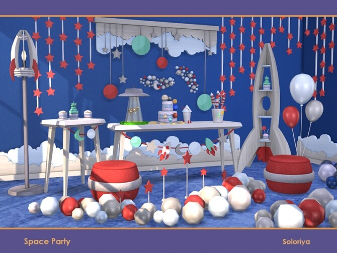Space Party by soloriya at TSR image 691 670x503 Sims 4 Updates