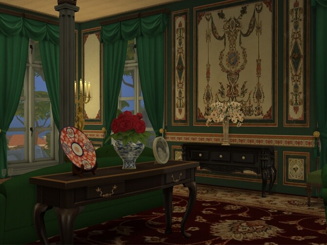 Sims 4 Vintage wallpaper by FinnSleepOver at TSR
