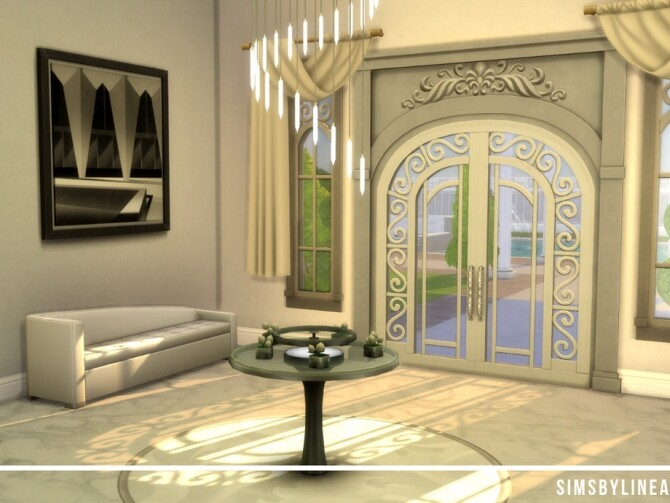 Sims 4 Marble Mansion by SIMSBYLINEA at TSR