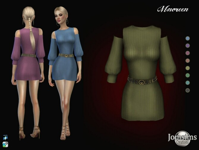Sims 4 Mnoreen dress by  jomsims at TSR